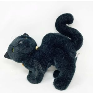Spooky black cat Halloween plush vintage